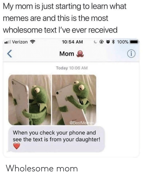 Mom: Wholesome mom