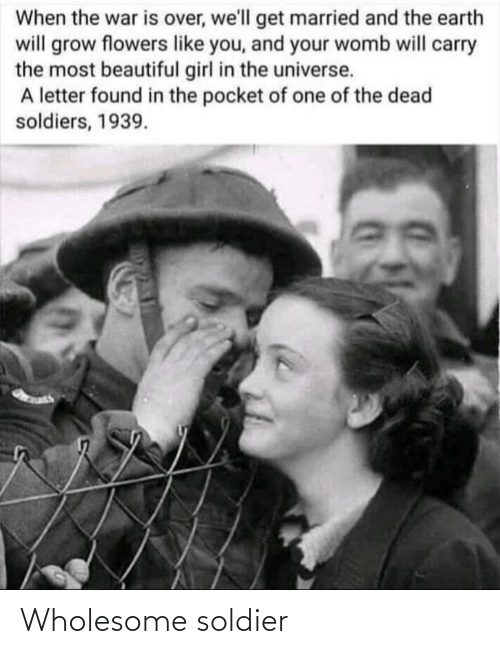 soldier: Wholesome soldier