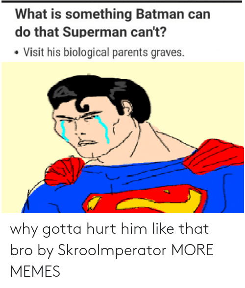 hurt: why gotta hurt him like that bro by SkrooImperator MORE MEMES
