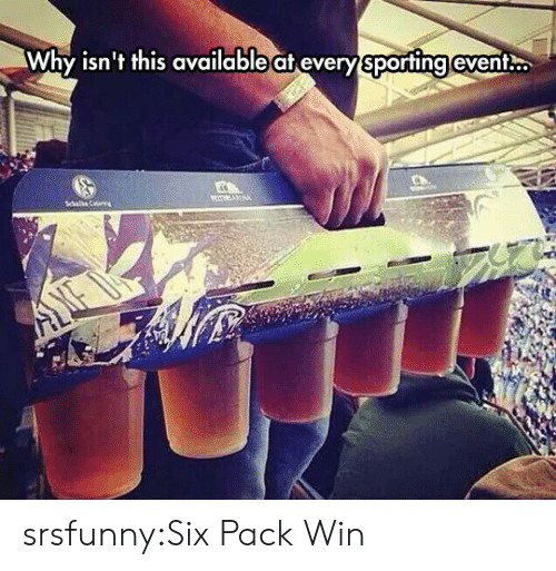 Tumblr, Blog, and Http: Why isn't this available at every sporting event. srsfunny:Six Pack Win