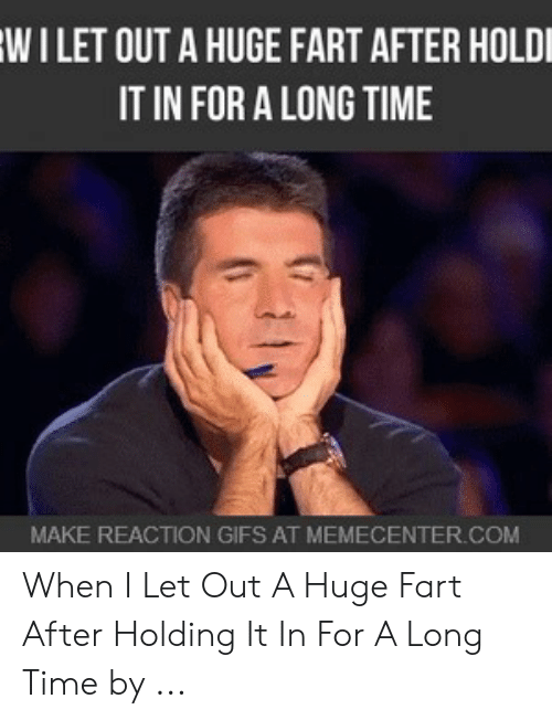 Holding In Fart Meme: WILET OUT A HUGE FART AFTER HOLDI  IT IN FOR A LONG TIME  MAKE REACTION GIFS AT MEMECENTER.COM When I Let Out A Huge Fart After Holding It In For A Long Time by ...