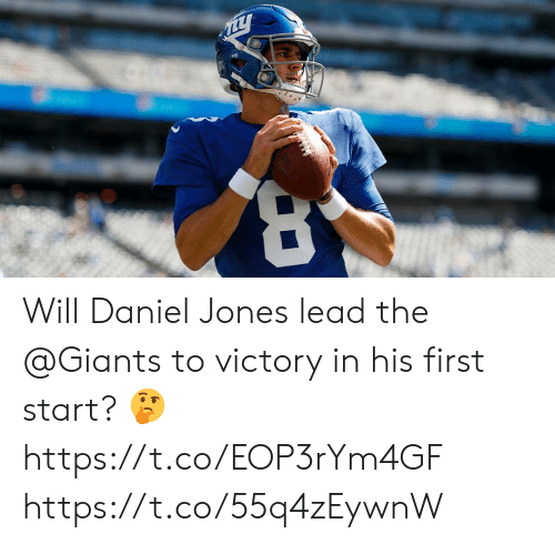 daniel: Will Daniel Jones lead the @Giants to victory in his first start? 🤔 https://t.co/EOP3rYm4GF https://t.co/55q4zEywnW