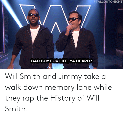While: Will Smith and Jimmy take a walk down memory lane while they rap the History of Will Smith.
