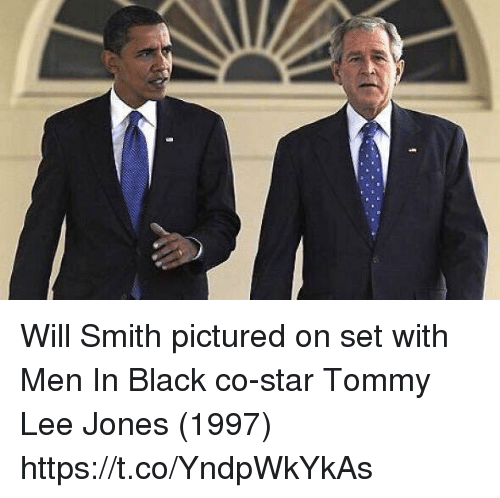 Men in Black, Will Smith, and Black: Will Smith pictured on set with Men In Black co-star Tommy Lee Jones (1997) https://t.co/YndpWkYkAs