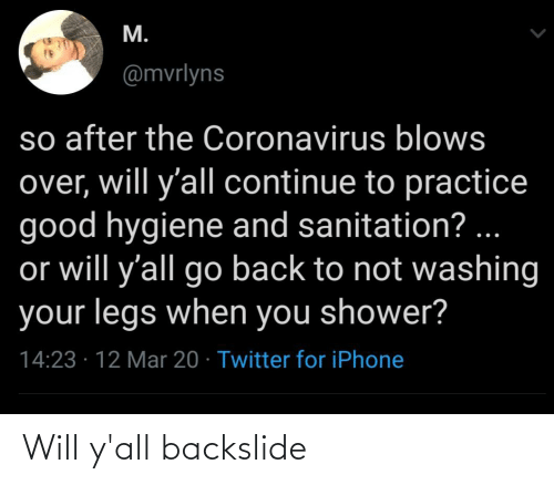 yall: Will y'all backslide
