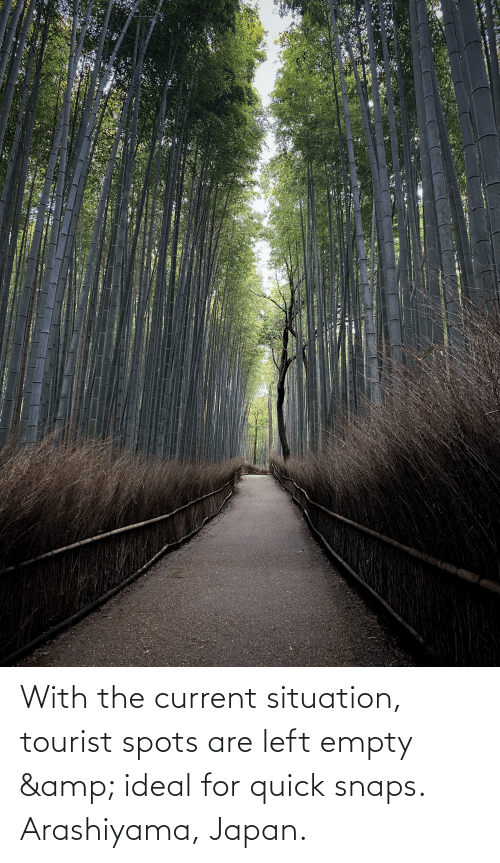 Tourist: With the current situation, tourist spots are left empty & ideal for quick snaps. Arashiyama, Japan.