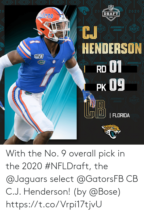 jaguars: With the No. 9 overall pick in the 2020 #NFLDraft, the @Jaguars select @GatorsFB CB C.J. Henderson!  (by @Bose) https://t.co/Vrpi17tjvU