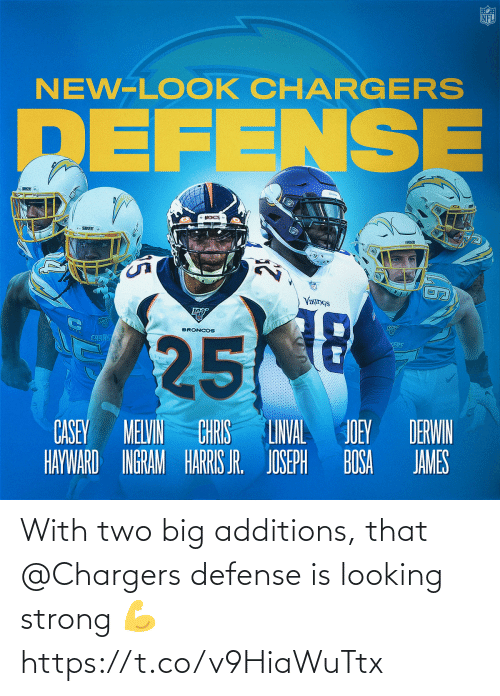 Strong: With two big additions, that @Chargers defense is looking strong 💪 https://t.co/v9HiaWuTtx