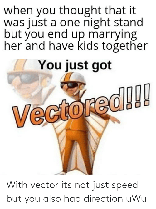 Its Not: With vector its not just speed but you also had direction uWu