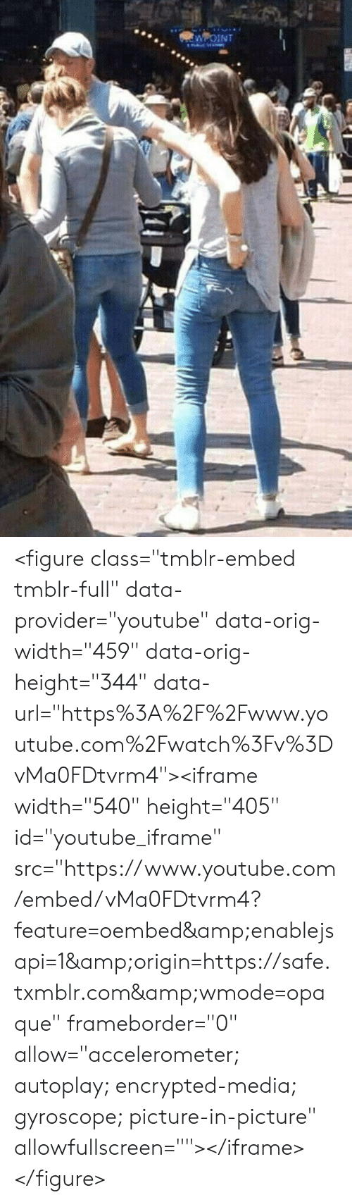 "youtube.com, youtube.com, and Media: WOINT <figure class=""tmblr-embed tmblr-full"" data-provider=""youtube"" data-orig-width=""459"" data-orig-height=""344"" data-url=""https%3A%2F%2Fwww.youtube.com%2Fwatch%3Fv%3DvMa0FDtvrm4""><iframe width=""540"" height=""405"" id=""youtube_iframe"" src=""https://www.youtube.com/embed/vMa0FDtvrm4?feature=oembed&amp;enablejsapi=1&amp;origin=https://safe.txmblr.com&amp;wmode=opaque"" frameborder=""0"" allow=""accelerometer; autoplay; encrypted-media; gyroscope; picture-in-picture"" allowfullscreen=""""></iframe></figure>"