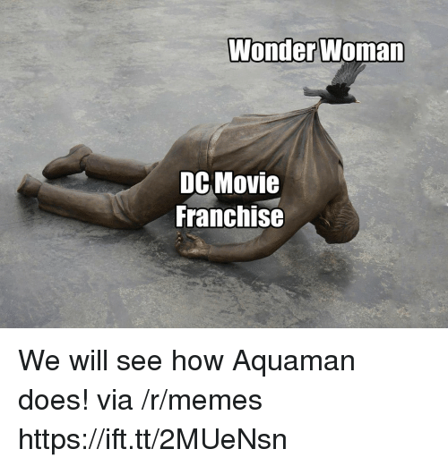 Memes, Movie, and Wonder Woman: Wonder Woman  DC Movie  Franchise We will see how Aquaman does! via /r/memes https://ift.tt/2MUeNsn
