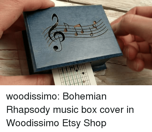 Rhapsody: woodissimo: Bohemian Rhapsody music box cover in Woodissimo Etsy Shop