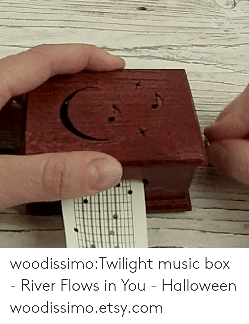 Halloween, Music, and Tumblr: woodissimo:Twilight music box - River Flows in You - Halloween woodissimo.etsy.com