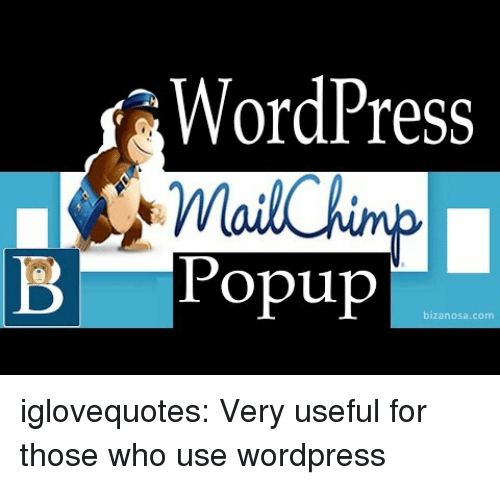 popup: WordPres  B Popup iglovequotes: Very useful for those who use wordpress