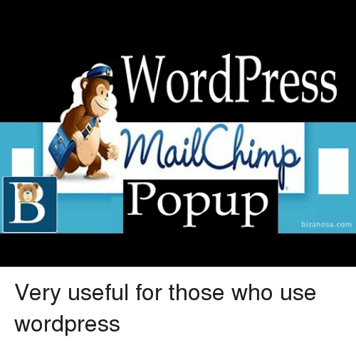 popup: WordPres  B Popup Very useful for those who use wordpress