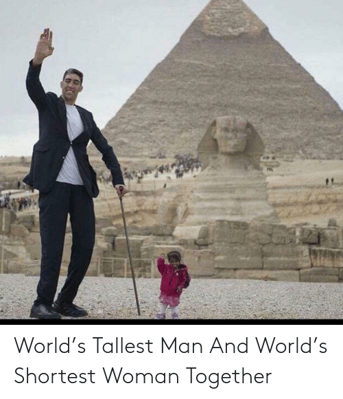 woman: World's Tallest Man And World's Shortest Woman Together
