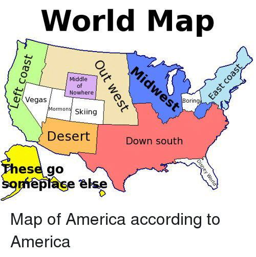 World Map Middle Of Nowhere U Vegas Boring Mormons Skiing Desert