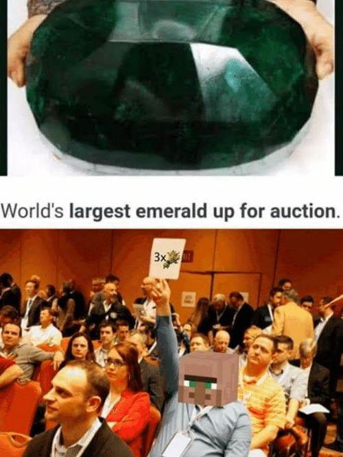 Memes, 🤖, and Emerald: World's largest emerald up for auction  3x