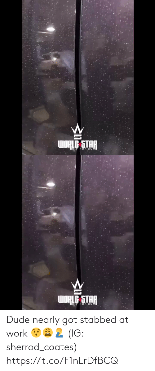 at-work: WORLE STAR  IHIP HOP.COM   WORLE STAR  HIP HOP.COM Dude nearly got stabbed at work 😯😩🤦‍♂️ (IG: sherrod_coates) https://t.co/F1nLrDfBCQ