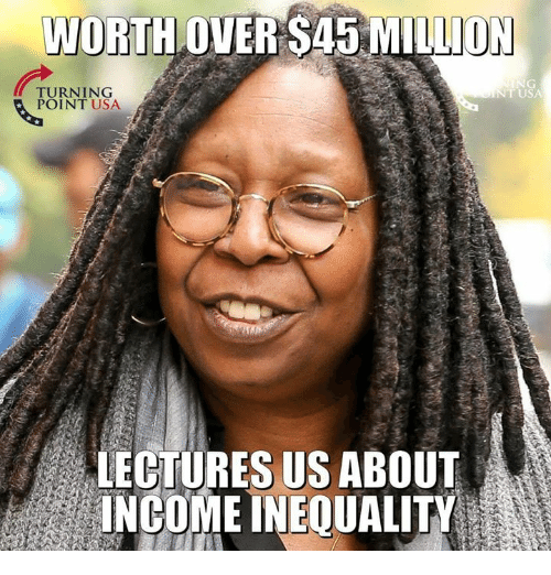 Memes, 🤖, and Usa: WORTH OVER S45 MILLION  T USA  TURNING  POINT USA  LECTURES US ABOUT  INCOME INEQUALITY