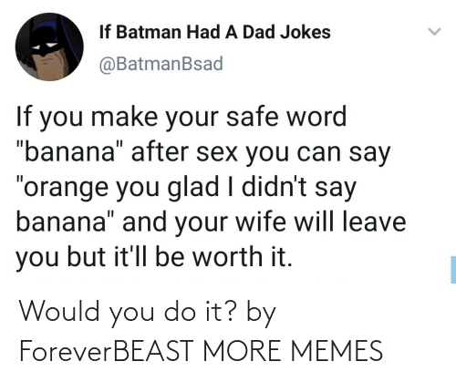 Would You: Would you do it? by ForeverBEAST MORE MEMES