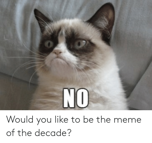 decade: Would you like to be the meme of the decade?