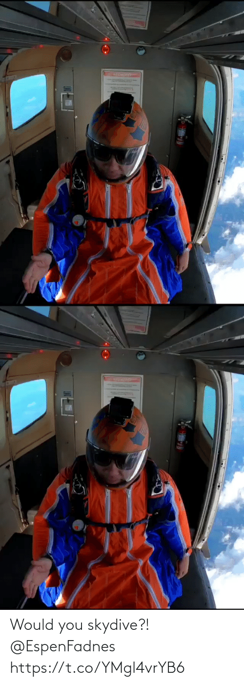 skydive: Would you skydive?! 🪂 @EspenFadnes https://t.co/YMgl4vrYB6