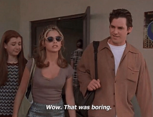 Wow, Boring, and That: Wow. That was boring.