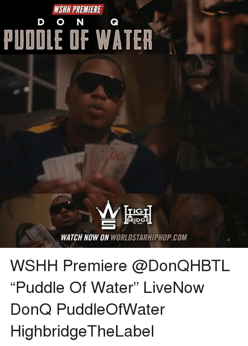 """Memes, Worldstarhiphop, and Wshh: WSHH PREMIERE  D O N  PUDDLE OF WATER  IG  WATCH NOW ON WORLDSTARHIPHOP.COM WSHH Premiere @DonQHBTL """"Puddle Of Water"""" LiveNow DonQ PuddleOfWater HighbridgeTheLabel"""