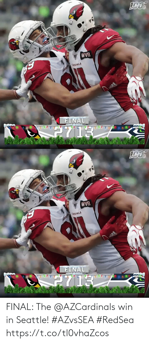 Cardinals: WVB  CARDINALS  FINAL  2713  CARDAL   WVB  CARDINALS  adidas  FINAL  2713  CARDIAL FINAL: The @AZCardinals win in Seattle! #AZvsSEA #RedSea https://t.co/tl0vhaZcos
