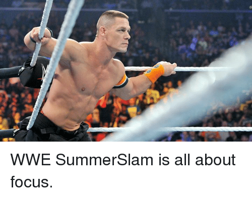World Wrestling Entertainment, Focus, and Summerslam: WWE SummerSlam is all about focus.
