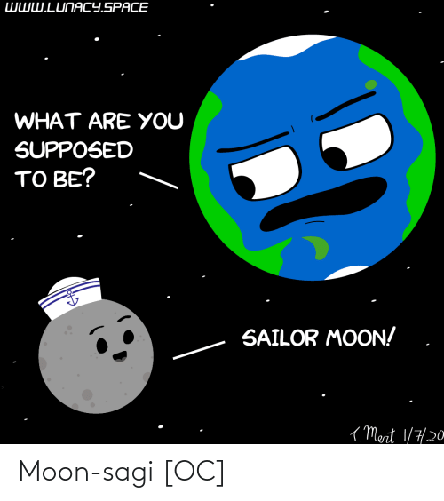 are you: WWW.LUNACY.SPACE  WHAT ARE YOU  SUPPOSED  TO BE?  SAILOR MOON!  ( Mert 1/7/20 Moon-sagi [OC]