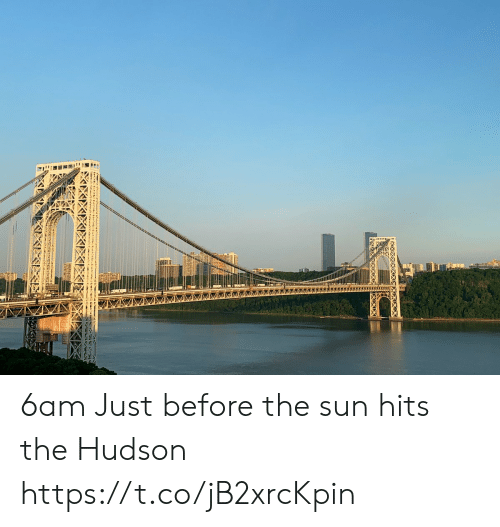 Memes, 🤖, and Sun: XX 6am Just before the sun hits the Hudson https://t.co/jB2xrcKpin