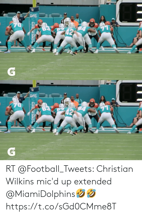 Wilkins: Y CAUSE MLEATE   wY CAUSE MTLEATS  inujan RT @FootbaIl_Tweets: Christian Wilkins mic'd up extended @MiamiDolphins🤣🤣 https://t.co/sGd0CMme8T