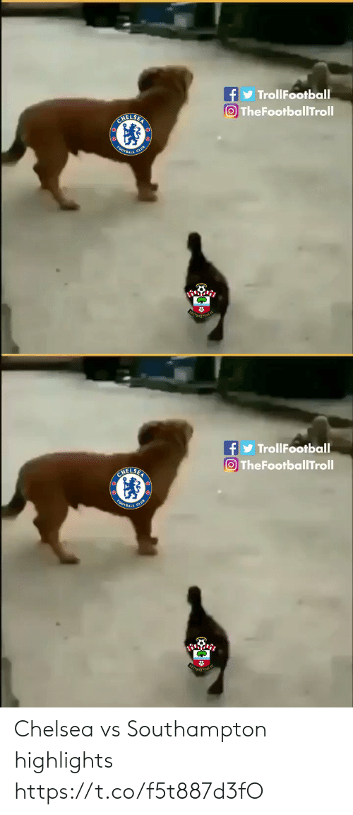 Trollfootball: y TrollFootball  OTheFootballTroll  CHELSER  OOTBALL   y TrollFootball  OTheFootballTroll  CHELSEA  FOOTBALL Chelsea vs Southampton highlights https://t.co/f5t887d3fO