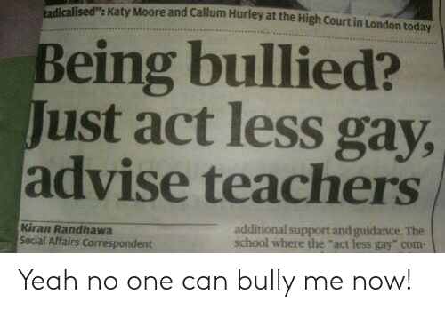 bully: Yeah no one can bully me now!