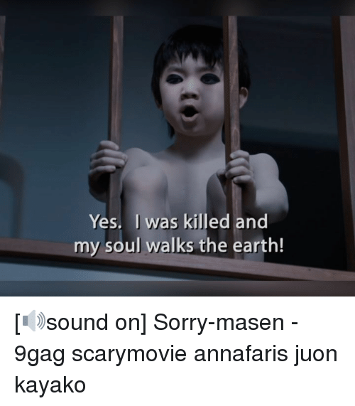 9gag, Memes, and Sorry: Yes. I was killed and  my soul walks the earth! [🔊sound on] Sorry-masen - 9gag scarymovie annafaris juon kayako