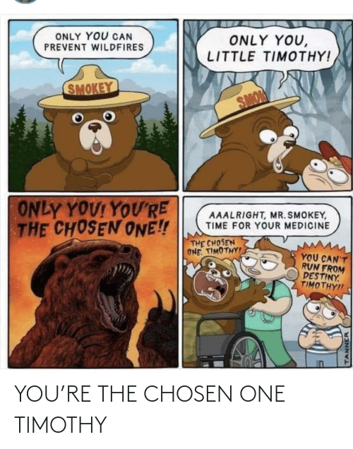Chosen One: YOU'RE THE CHOSEN ONE TIMOTHY