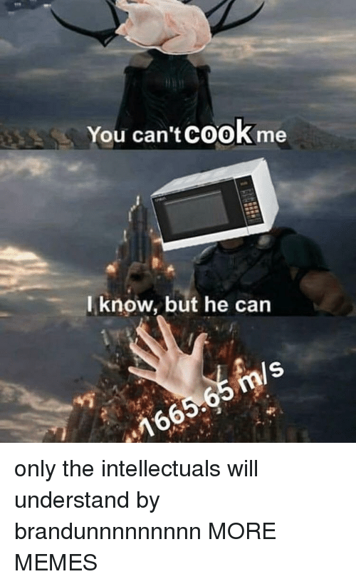 Dank, Memes, and Target: You can't COoK me  l know, but he can  ls  16 only the intellectuals will understand by brandunnnnnnnnn MORE MEMES