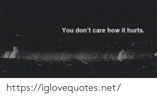 How, Net, and You: You don't care how it hurts. https://iglovequotes.net/