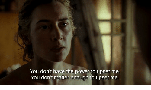 Power, You, and Upset: You don't have the power to upset mee  You don't matter enough to upset me