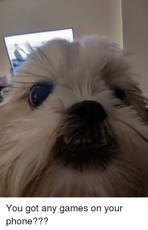 You Got Any Games On Your Phone