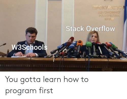 How To: You gotta learn how to program first