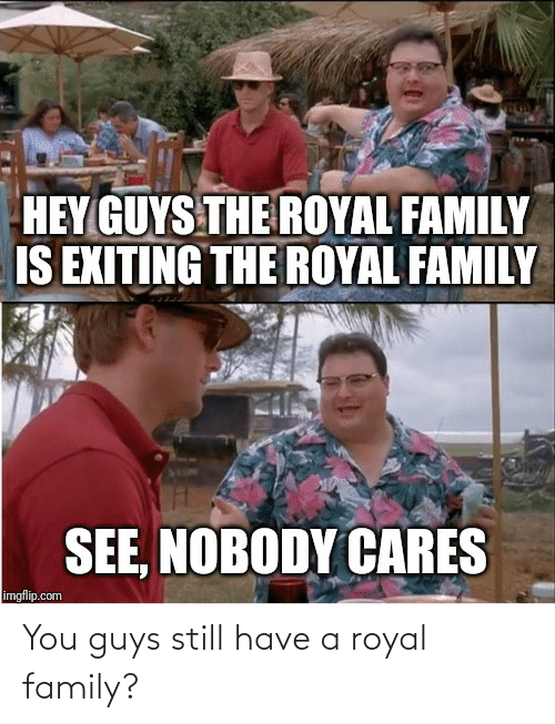 Royal family: You guys still have a royal family?