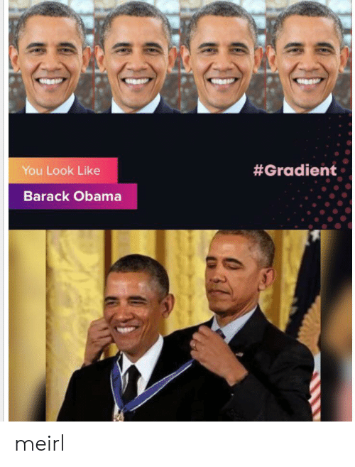 Obama: You Look Like  #Gradient  Barack Obama meirl
