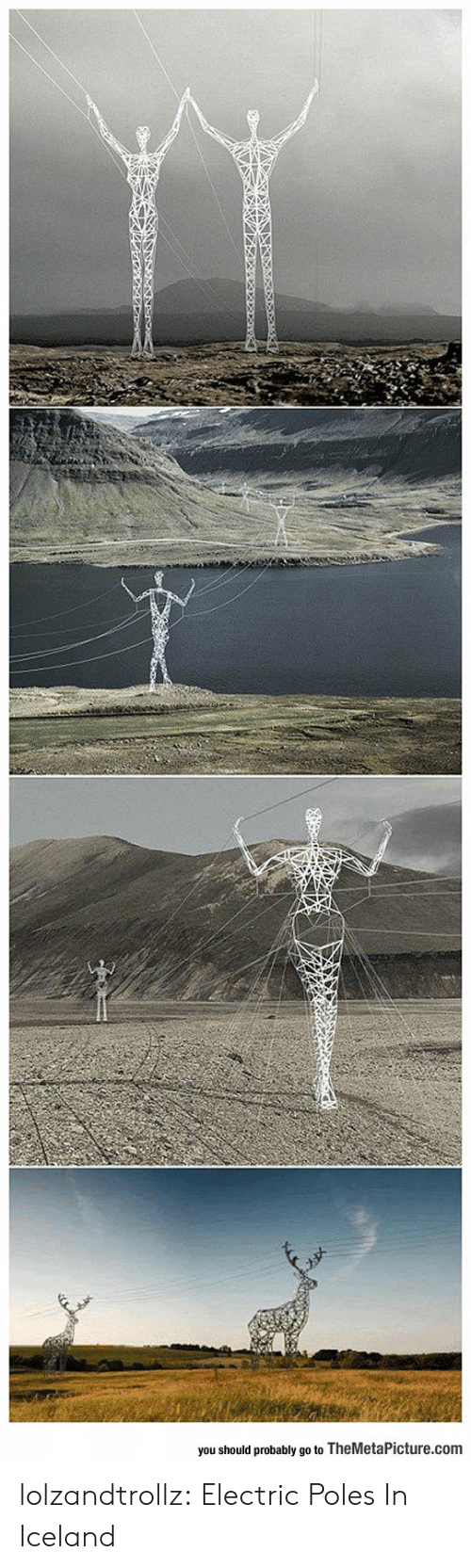 Tumblr, Blog, and Iceland: you should probably go to TheMetaPicture.com lolzandtrollz:  Electric Poles In Iceland