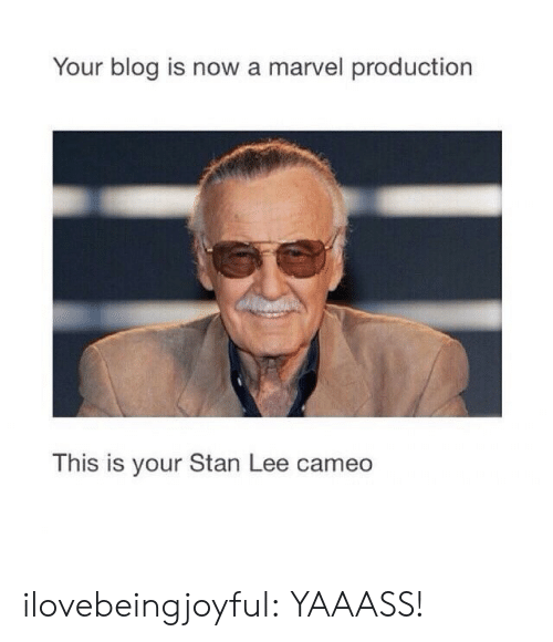 Is Is: Your blog is now a marvel production  This is your Stan Lee cameo  IS IS ilovebeingjoyful: YAAASS!