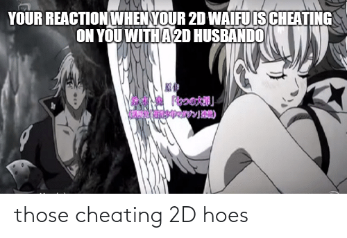 Husbando: YOUR REACTION WHEN YOUR 2D WAIFU IS CHEATING  ON YOU WITH A 2D HUSBANDO those cheating 2D hoes