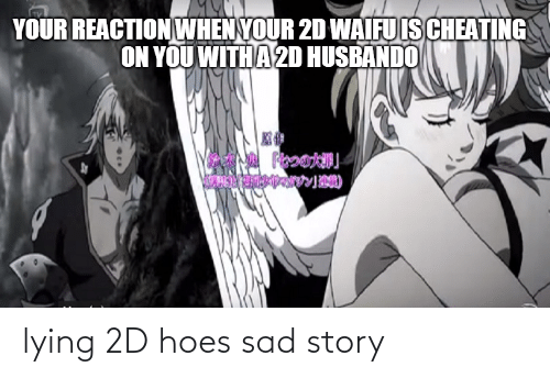 Husbando: YOUR REACTION WHEN YOUR 2D WAIFU IS CHEATING  ON YOU WITH A 2D HUSBANDO lying 2D hoes sad story
