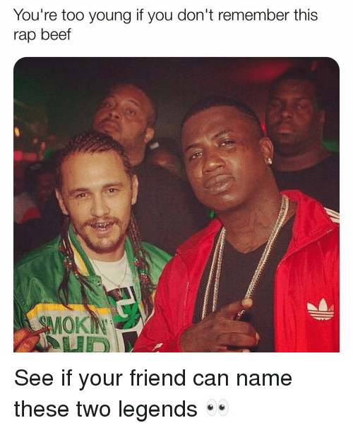 Beef, Memes, and Rap: You're too young it you don't remember this  rap beef  SMOK See if your friend can name these two legends 👀